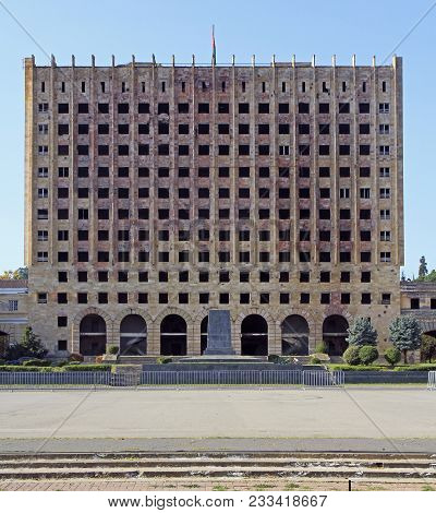 Abandoned Council Of Ministers Building In Sukhumi, Abkhazia