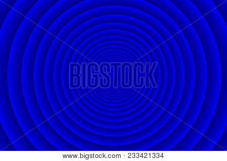 Concentric Circle Elements Pattern, Blue Color Ring, Circle Spin Target,