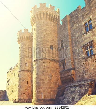 Palace Of The Grand Master Of The Knights Of Rhodes, A Medieval Castle Of The Hospitaller Knights On