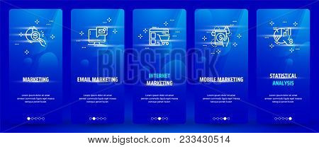 Marketing, Email Marketing, Internet Marketing, Mobile Marketing, Statistical Analysis Vertical Card