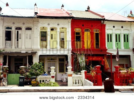 Row Of Town Houses In Singapore