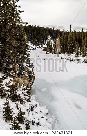Wai[prous Creek In Winter, Waiprous Creel, Provincial Recreation Area, Alberta, Canada