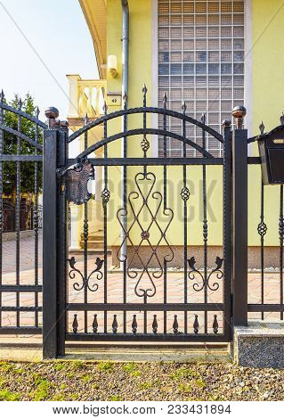 Wrought Iron Fence With Wrought Iron Gate