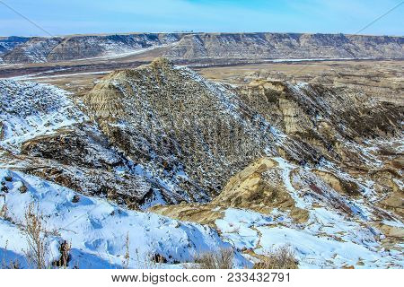 Horse Thief Canyon In Late Spring, Canadian Badlands In Summer, Drumheller, Alberta, Canada