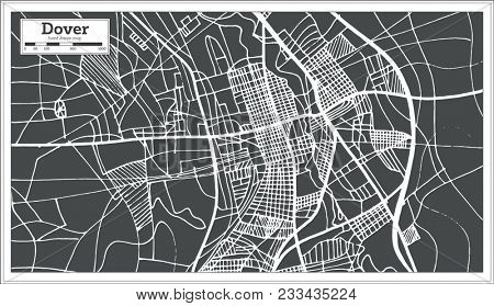Dover Delaware USA City Map in Retro Style. Outline Map. Vector Illustration.