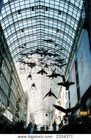 Eaton Centre In Down Town Toronto
