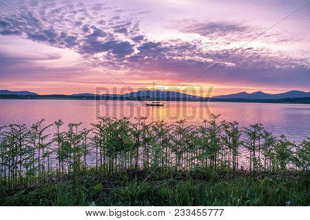 Amazing Sunset At Loch Creran, Barcaldine, Argyll, Scotland - Uk