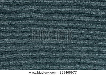 Abstract Macro Texture Of Damp Synthetic Fabric For A Background Of Dark Indigo Color