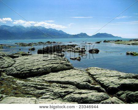 Nw Zealnd Sea View to Mountains