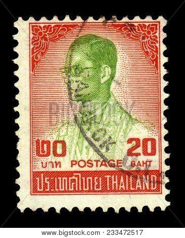Thailand - Circa 1986: A Stamp Printed In Thailand Shows King Bhumibol Adulyadej, King Of Thailand (