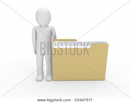 3D Man Folder