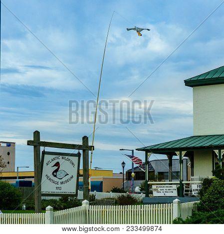 Boardwalk, Virginia Beach Us - September 12, 2017 Atlantic Wildfowl Heritage Museum