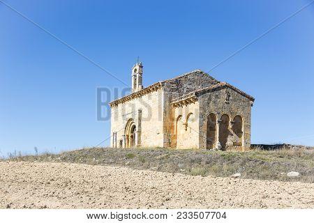 Chapel Of The Holy Christ Of San Sebastian In Coruna Del Conde Village, Province Of Burgos, Spain