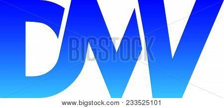 Letter D M W V Modern Logo Design Template Isolated Vector