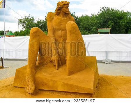 Kolomenskoye, Moscow, Russia - May 25, 2009: World Championship Of Sand Sculpture