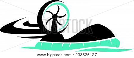 Hovercraft Transportation Logo Design Template Isolated Icon Vector