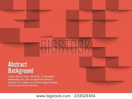 Red Geometric Texture. Vector Background Can Be Used In Cover Design, Book Design, Website Backgroun