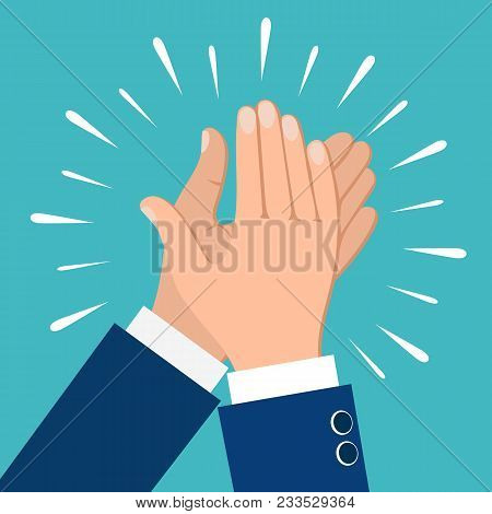 Clapping Hands. Business People Applauding Hands Clap Vector Illustration