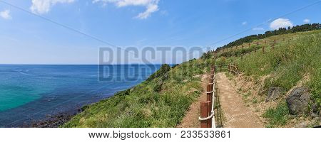 Olle Trail No.19 In Hamdeok Seoubong Peak. The Peak Is A Kind Of Cape And Located Near The Hamdeaok