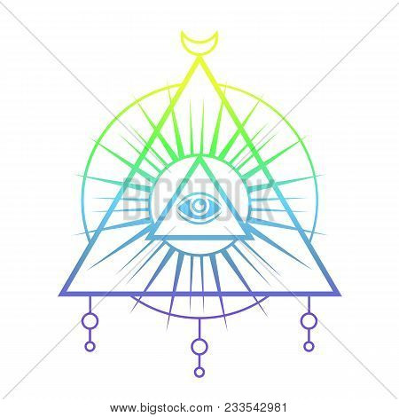 All Seeing Eye Symbol Vector Photo Free Trial Bigstock