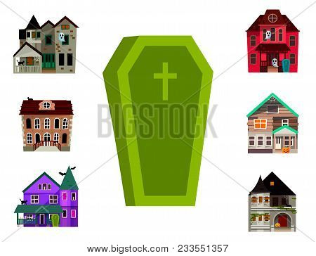 Cartoon Fairy Tale Castle Key-stone Palace Tower Coffin Scarry Knight Medieval Architecture Building