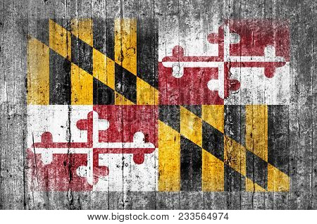 Maryland Official Us State National Concrete Flag