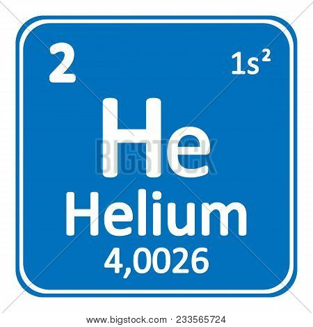 Periodic table element helium icon on white background. Vector illustration. poster