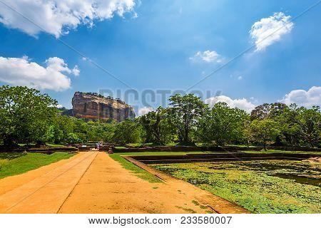 Sigiriya Rock Or Lion Rock Is An Ancient Fortress Near Dambulla, Sri Lanka. Sigiriya Is A Unesco Wor