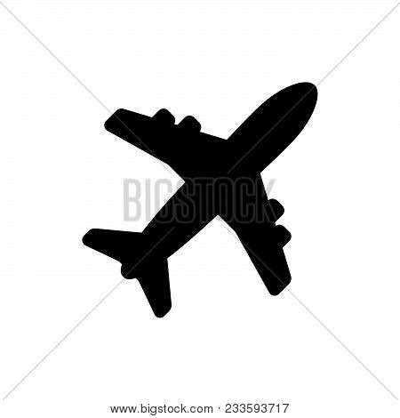 Airplane Icon Vector In Modern Flat Style For Web, Graphic And Mobile Design. Airplane Icon Vector I