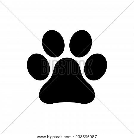 Paw Print Icon Vector In Modern Flat Style For Web, Graphic And Mobile Design. Paw Print Icon Vector