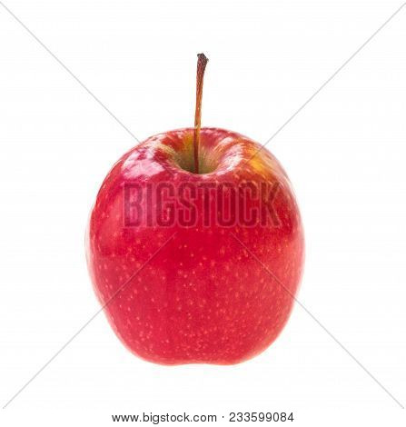 Red Apple Fruit Isolated On A White