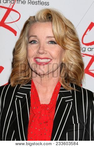 LOS ANGELES - MAR 26:  Melody Thomas Scott at the The Young and The Restless Celebrate 45th Anniversary at CBS Television City on March 26, 2018 in Los Angeles, CA