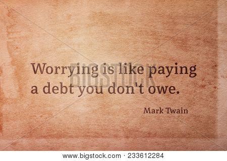 Debt Not Owe Twain