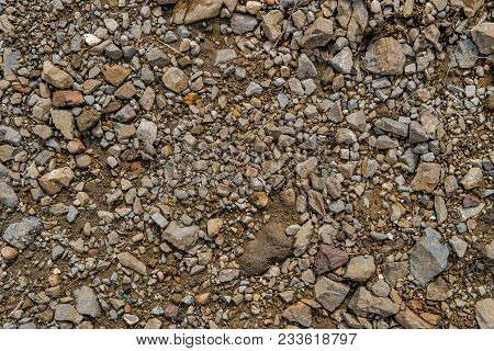 Rock Background. Stony Soil. Earth Texture. Nature Background. Ground And Stones. Rocky Ground. Rock
