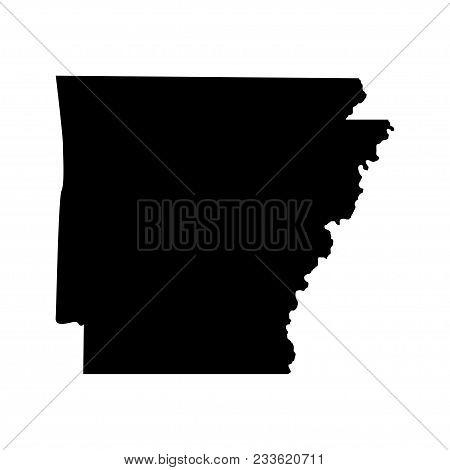 Territory Of Arkansas. White Background. Vector Illustration