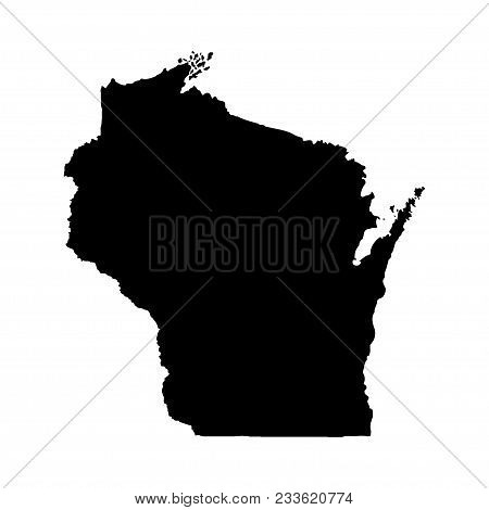 Territory Of Wisconsin. White Background. Vector Illustration