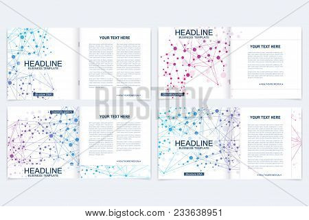 Scientific Templates Square Brochure, Magazine, Leaflet , Flyer, Cover, Booklet, Annual Report. Scie