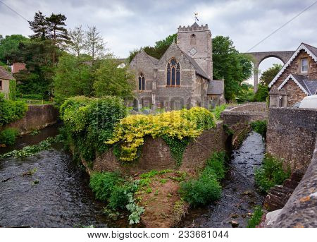 PENSFORD, UK - JUN 10, 2013: 14th century St Thomas a Beckett Church, Grade II listed building, converted to a private dwelling