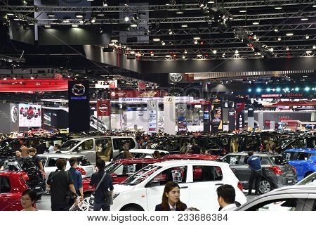 Nonthaburi,thailand - March 30, 2018: Bangkok Motor Show Exhibition Booth At The 39th Bangkok Intern