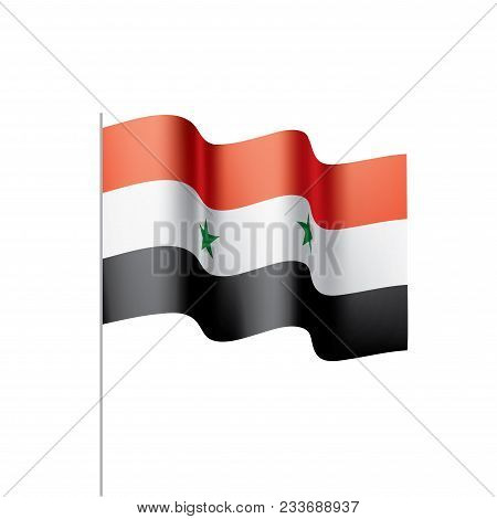 Syria Flag, Vector Illustration On A White Background