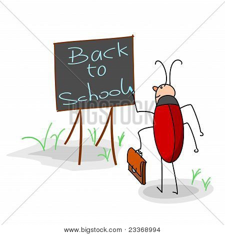 Bug Writes On A Board