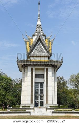 The Memorial Stupa Of The Choeung Ek Killing Fields, Cambodia