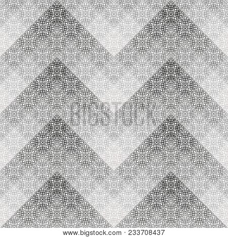 Abstract Seamless Black And White Cubes Background. Modern Stylish Texture. Repeating Geometric Tile