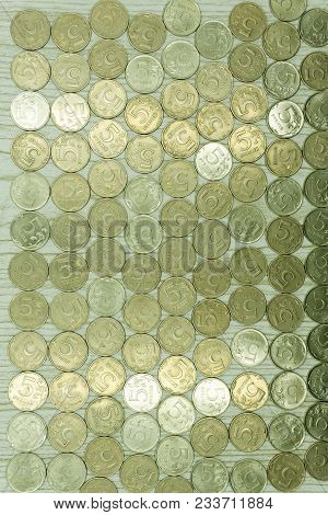 Background Of Old Coins Oxides Pattern Pence Penny