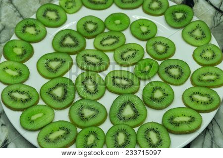 Kiwi Background Sliced Slices Sweet Taste Tasty Tropical