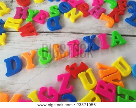 Colorful dyslexia word