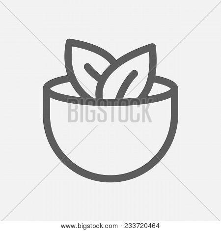 Vegan Icon Line Vector & Photo (Free Trial)   Bigstock