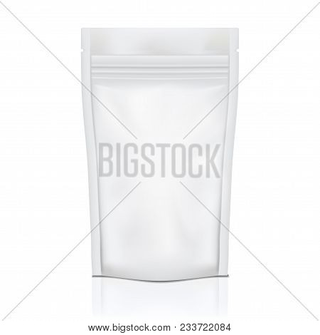 White Blank Foil Food Doy Pack