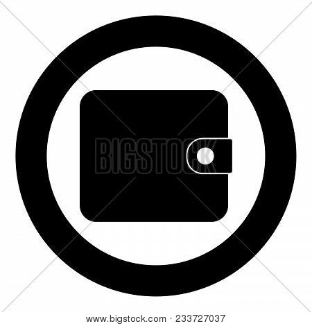 Change Purse Icon Black Color In Circle Vector Illustration