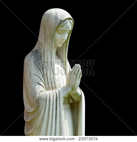 Isolated Statue Of Mary